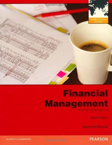 Financial Management: Core Concepts by Raymond Brooks (2012-03-15)