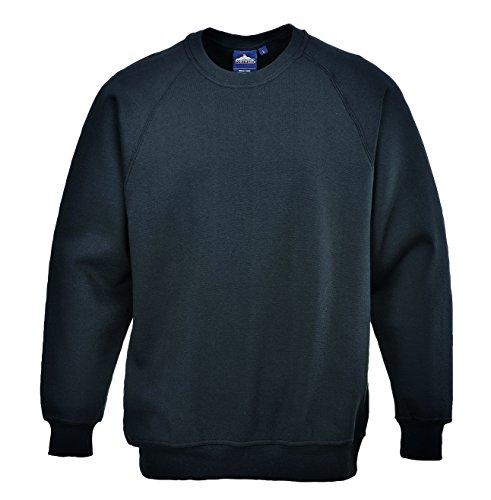PORTWEST B300 - Roma Sweatshirt, 1 Stück, XXXL, schwarz, B300BKRXXXL
