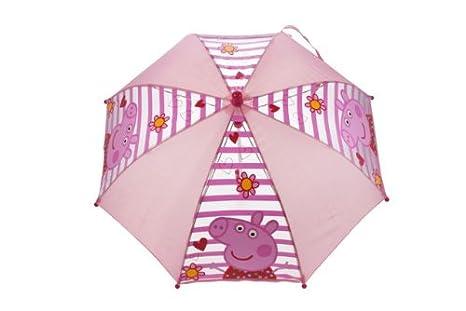Peppa Pig - Paraguas de rayas, color rosa