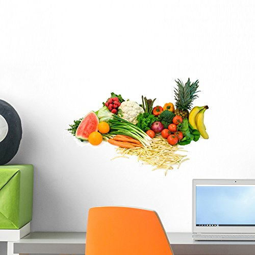 Vegetables and Fruits Arrangement Wall Mural by Wallmonkeys Peel and Stick Graphic (18 in W x 12 in H) WM3665