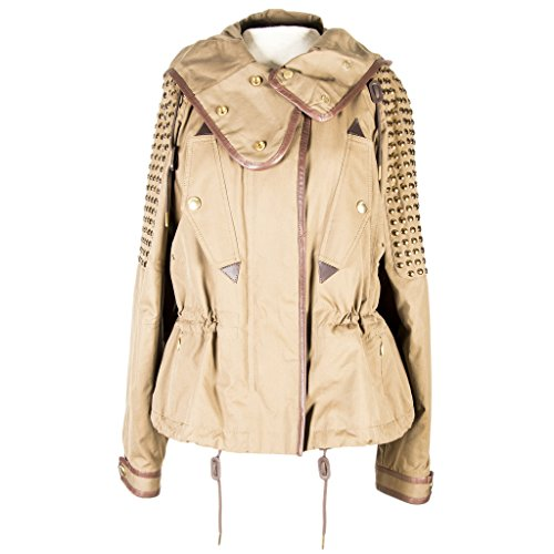 Burberry Brit Women's Studded Hooded Jacket Olive Green