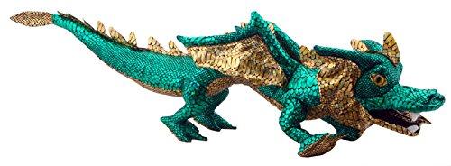 The Puppet Company Shiny Green Dragon Hand Puppet ()