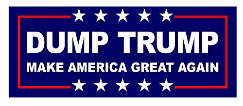 Dump Trump Make America Great Sticker 7.5-by-3-inch