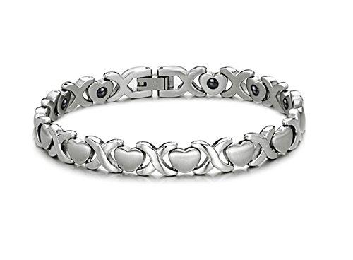 Titanium Steel Health Care Magnetic Stone Bracelets for - Titanium Thai Band