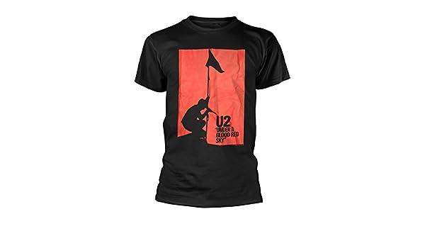 U2 Under A Blood Red Sky Bono The Edge Live Oficial Camiseta para Hombre (XX-Large): Amazon.es: Ropa y accesorios