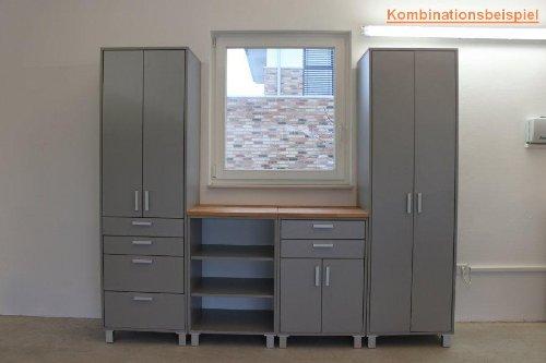 Kellerschrank  Garagenschrank Kellerschrank mit 2 Türen und 4 Schubladen Höhe ...