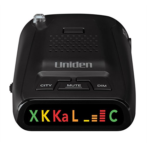 Uniden DFR1 Long Range Laser and Radar Detection, 360° Protection, City and Highway Modes, Easy-to-Read Color Icon Display with Signal Strength Meter Bars (Best Radar Detector Under 50)