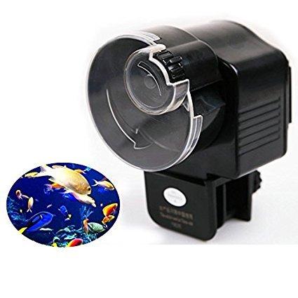 TOPBEST Aquarium minuterie automatique pour réservoir Pond chargeur automatique Poisson Nourriture Mangeoire