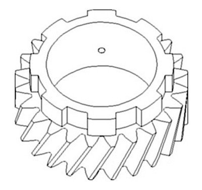 Allis Chalmers Pinion Shaft Gear (4th) (SN 13291>) Replacement for 70228294 fits D10 D12 D14 (Gear 4th Shaft)