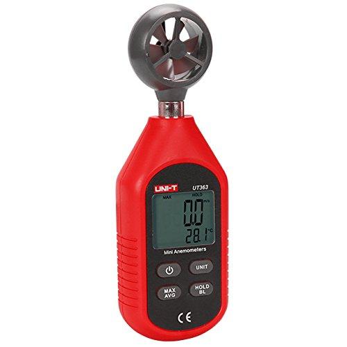 UT363 Mini Digital Wind Speed Meter Pocket Anemometer Speed Temperature Tester Thermometer (Pocket Digital Wind Meter)