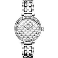 JBW Luxury Women's Gala .18 Carat Diamond & Swarovski Crystal Wrist Watch with Stainless Steel Bracelet