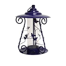 Heath Outdoor Products 21212 Decorative Butterfly Mixed Seed Bird Feeder, Metal Blue