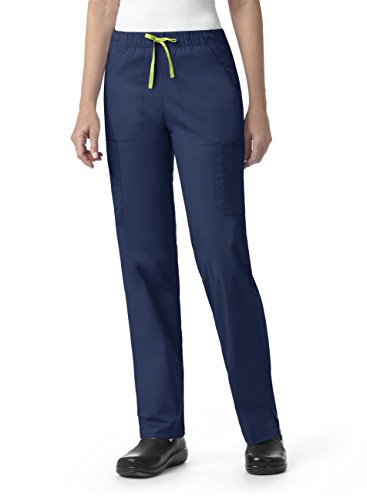Signature Collection By Vera Bradley Women's Florence Drawstring Cargo Scrub Pant Navy (Womens Collection Signature)