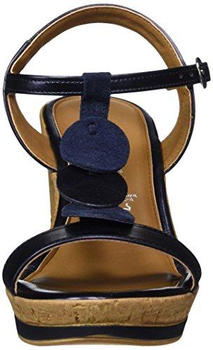 Tamaris Signore 28363 Sandali T-diapositive Blu (metallic Black)