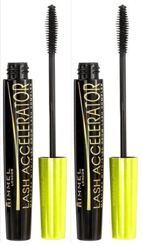 c6481a1efe9 Amazon.com : Rimmel London Lash Accelerator Mascara - Extreme Black - 2 pk  : Beauty