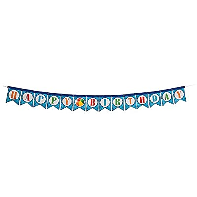 Fun Express - Pool Party Happy Birthday Banner for Birthday - Party Decor - Banners - General Banners - Birthday - 1 Piece