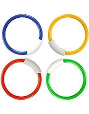 Xrten Underwater Swimming Diving Rings 4 Colors,Kids Safe Water Swimming Game Training Gift for Children