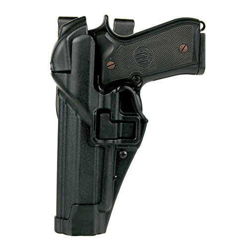 Lock 4 Finishes (BLACKHAWK! SERPA Level 3 Auto Lock Duty Holster with Matte Finish, Size 4, Black)