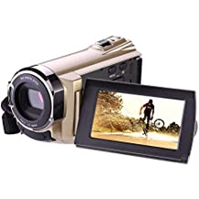 Camcorder, Hausbell Camcorder with Wifi,HDV-5052 1920x1080p Digital Video Camera Camcorder with Infrared Night Vision, Touch Screen and HDMI Output (Golden)