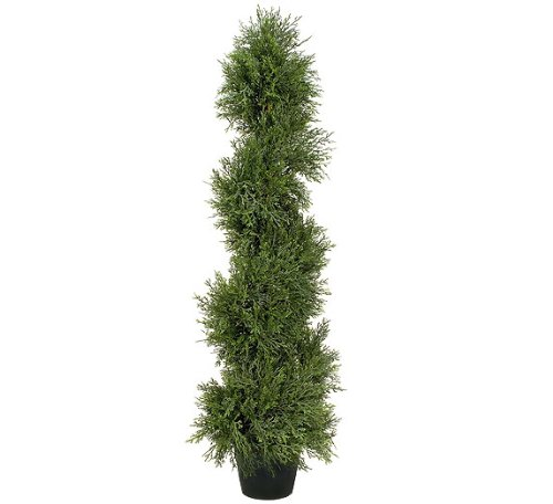 TWO Pre-Potted 3' Pond Cypress Artificial Topiary Trees