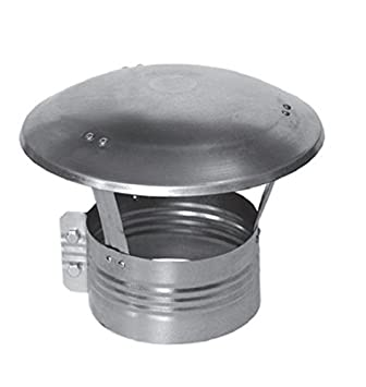 Chapeau de cheminé e en acier inoxydable –  Chapeau de protection contre la pluie et la neige 12, 7 cm 15, 2 cm 20, 3 cm DARCO
