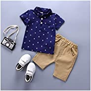 YOUPIN 2020 Summer New Clothing Sets boy Cotton Casual Children's wear Baby Boys T-Shirt+ Shorts Pants 2 P