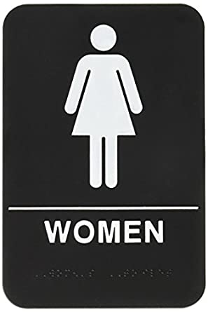 Restroom signs Male Image Unavailable Amazoncom Women Restroom Sign Blackwhite Ada Compliant 1 Business And
