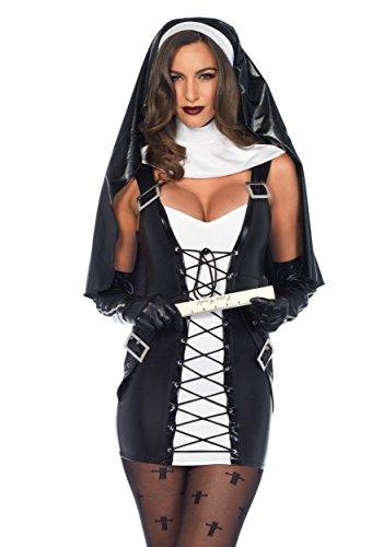 [Leg Avenue womens Women's Naughty Nun Costume Medium/Large] (Naughty Nun Halloween Costumes)