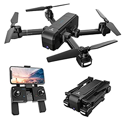 Enther GPS 5G FPV Drone with 1080P FHD Camera Live Video, Foldable Folding RC Quadcopter with Altitude Hold, GPS Return Home, Follow Me, and Bonus Battery for Beginners, Kids, and Adults  from Enther
