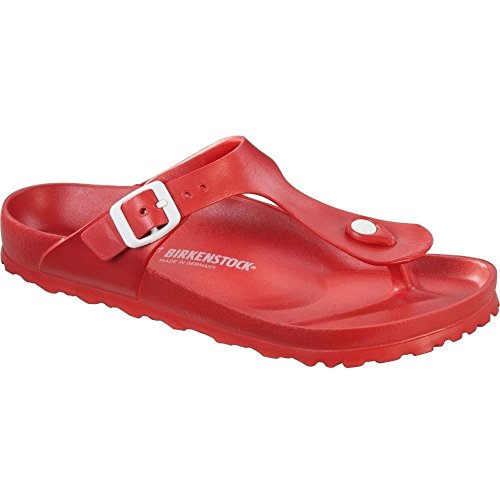 Price comparison product image Birkenstock 128393 Kids Gizeh Eva Thong Sandal, Red, 30 N EU / 12 - 12.5 US Kids