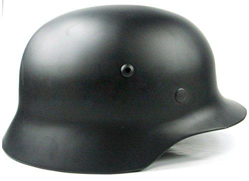 NuoYa001 Collectilbes WWII German M35 Steel Black Helmet Replica