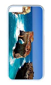 Adorable Coast Island Rock Hard Case Protective Shell Cell Phone Cover For Samsung Galaxy Note4 (5.5 Inch) - PC White