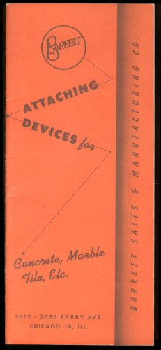 (Barrett Attaching Devices for Concrete Marble Tile etc Catalog 2000 1958)