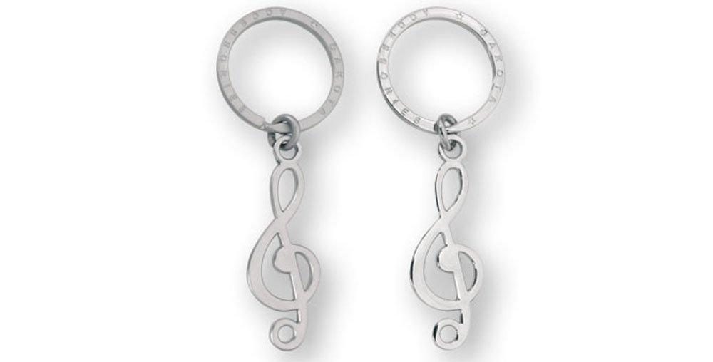 Llavero Musical diseño Clave De Sol. Cromado o Mate. 1 ...