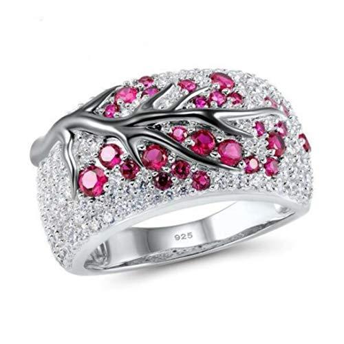 Pink Twig Creative Mosaic Diamond Pop Ring Accessories, Size 6