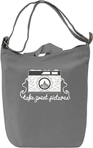 Call of nature Borsa Giornaliera Canvas Canvas Day Bag| 100% Premium Cotton Canvas| DTG Printing|