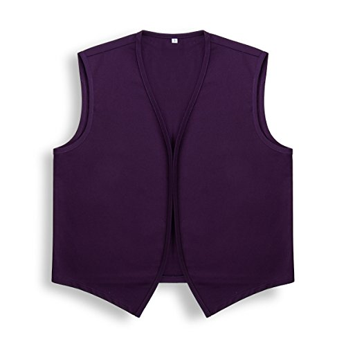 Unisex No Pocket Button Uniform Vest Halloween Costume Outfit (Medium, Purple) ()