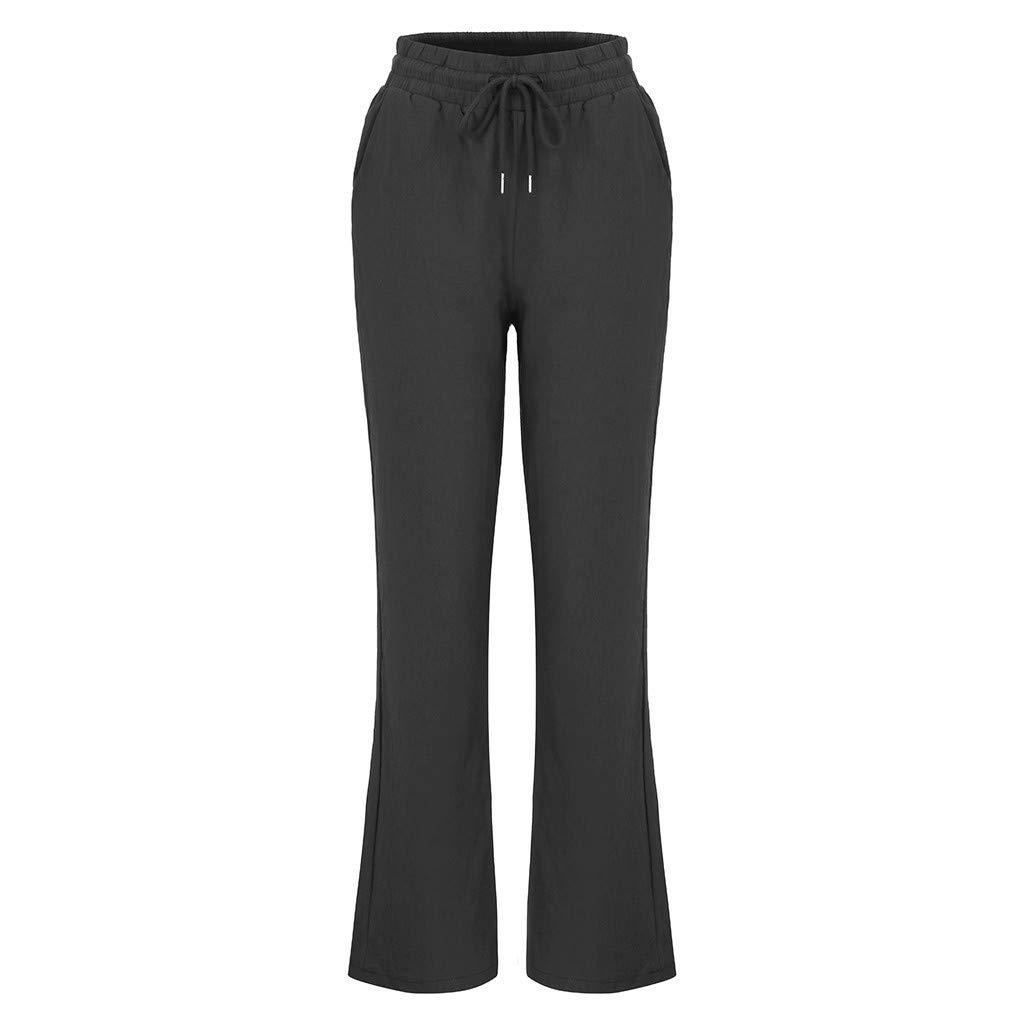 Amazon.com: Pantalones elásticos de cintura para mujer, de ...
