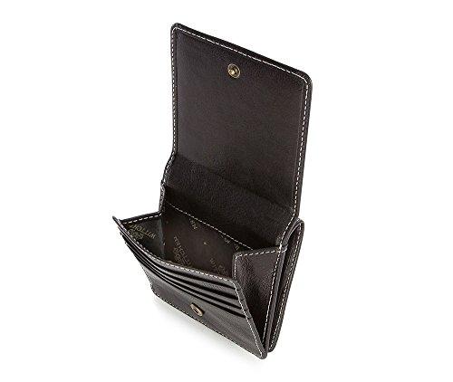 WITTCHEN Portafoglio, Dimensione: 10x10cm, Nero, Materiale: Pelle di grano, Verticale, Collezione: Roma - 22-1-407-1