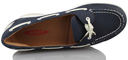 denim scuro MBT Duni 700646 scarpe da donna Slipper marina meli