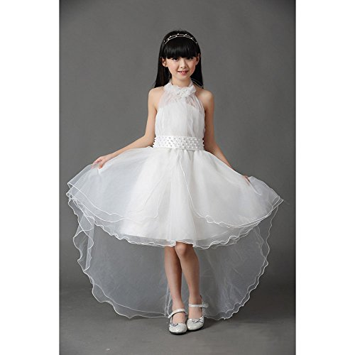Price comparison product image KAKA(TM) Lovely Girls One Piece Dress Flower Girl Dresses White Dress skirt Princess Skirt Tutu Skirt Party Costume Dress Trailing Dress