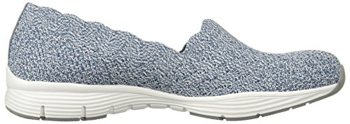 Seager Zapatillas Negro Light Blue stat Skechers q61w5Zn