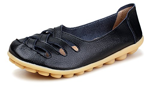 Kunsto Womens Leather Loafer Shoes product image