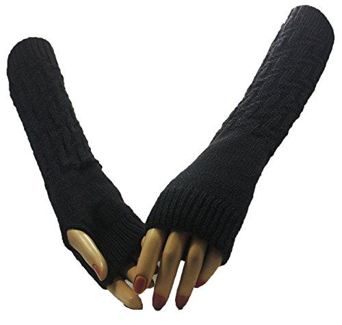 Grey Lightning Bolt Arm Warmer Gloves
