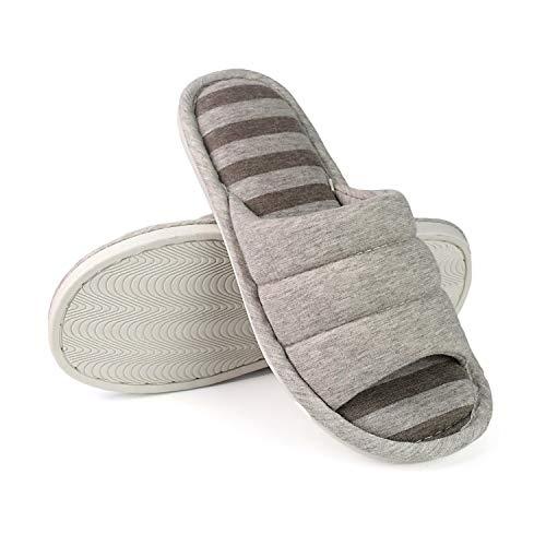 Grey Home Foam on Open A Sakuracan Cozy Women Shoes light Home Slippers Lightweight Indoor Slip Cotton Memory Toe Outdoor Men xzZHqzwp