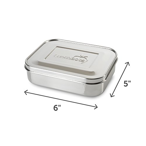 LunchBots Trio II Stainless Steel Food Container - Three Section Design Perfect for Healthy Snacks, Sides, or Finger Foods On The Go - Eco-Friendly, Dishwasher Safe and BPA-Free - All Stainless by LunchBots (Image #2)