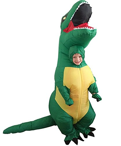 [Inflatable Dinosaur T-Rex Blow Up Tyrannosaurus Jurassic Party Cosplay Costumes Chubsuit (Child size(80-140CM),] (Inflatable Chub Suit Costume)