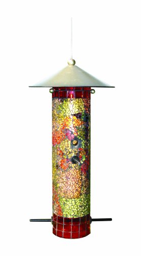 - Gardman BA04851 Mosaic Glass Round Tube Seed Feeder, 6