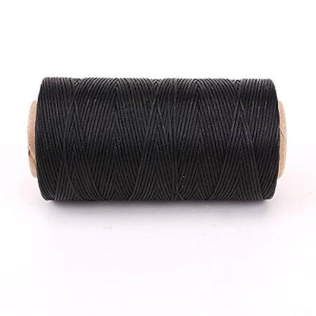 7c96b8022f31 Bobine de fil plat ciré 260M pour cuir maroquinerie bricolage DIY noir   Amazon.fr  Cuisine   Maison