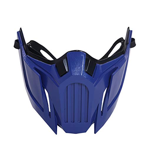 Mortal Kombat 11 Sub-Zero Mask Adjustable Adult Halloween Cosplay Costume Accessory Prop Resin]()